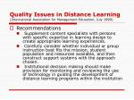 quality issues in distance learning international association for management education july 19995