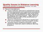 quality issues in distance learning international association for management education july 19996