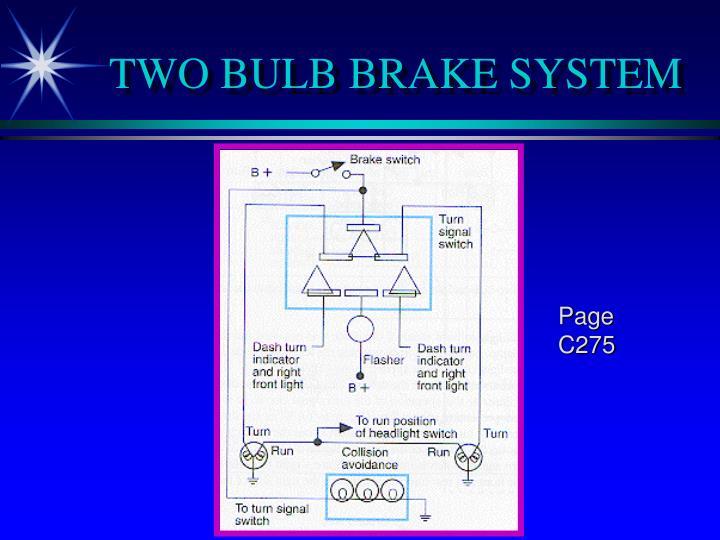 TWO BULB BRAKE SYSTEM