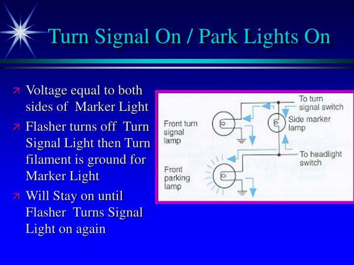 Turn Signal On / Park Lights On