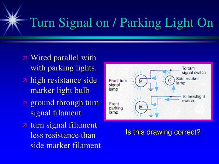 Turn Signal on / Parking Light On
