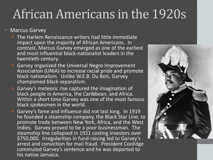 African Americans in the 1920s