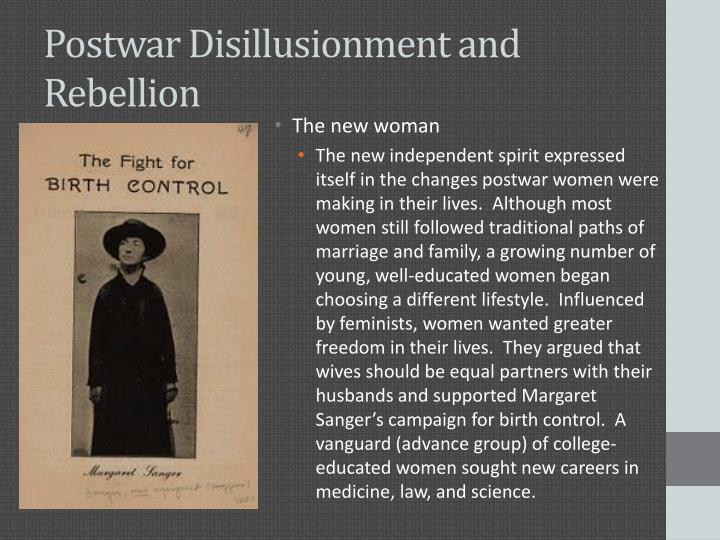 Postwar Disillusionment and Rebellion