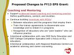proposed changes to fy13 eps grant1