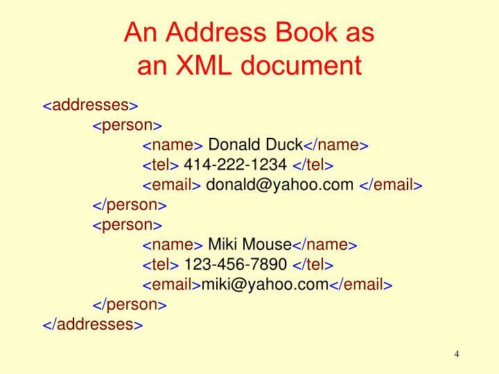 An Address Book as