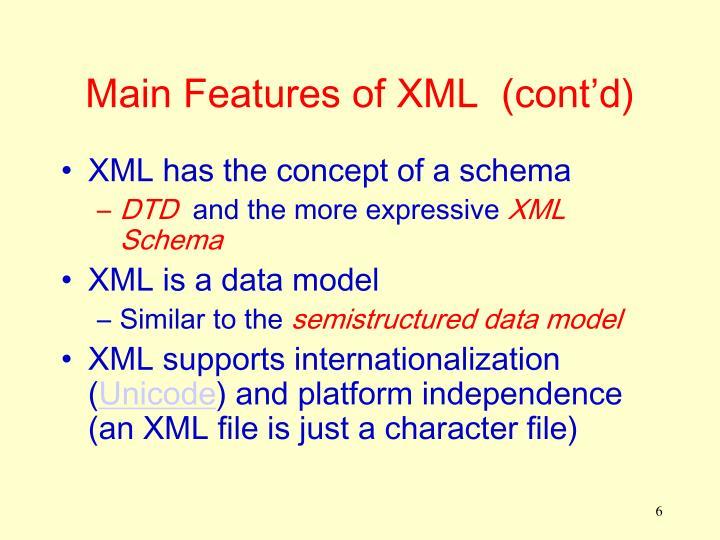 Main Features of XML