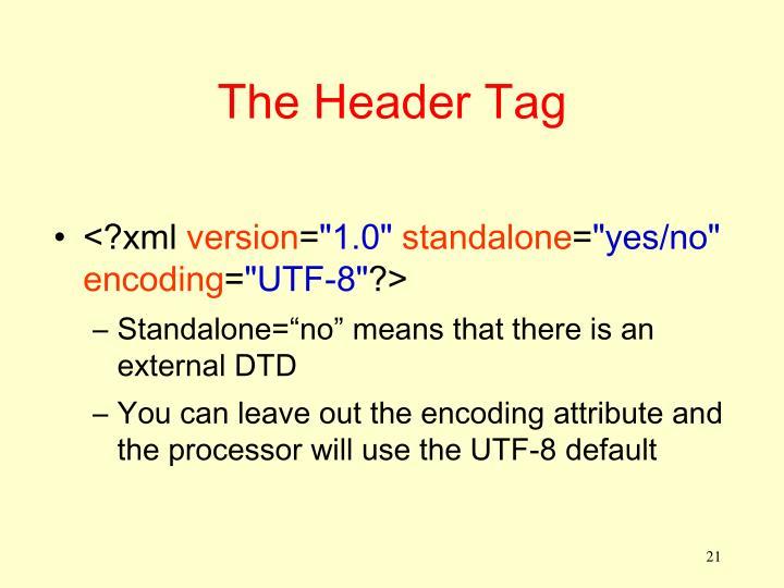 The Header Tag