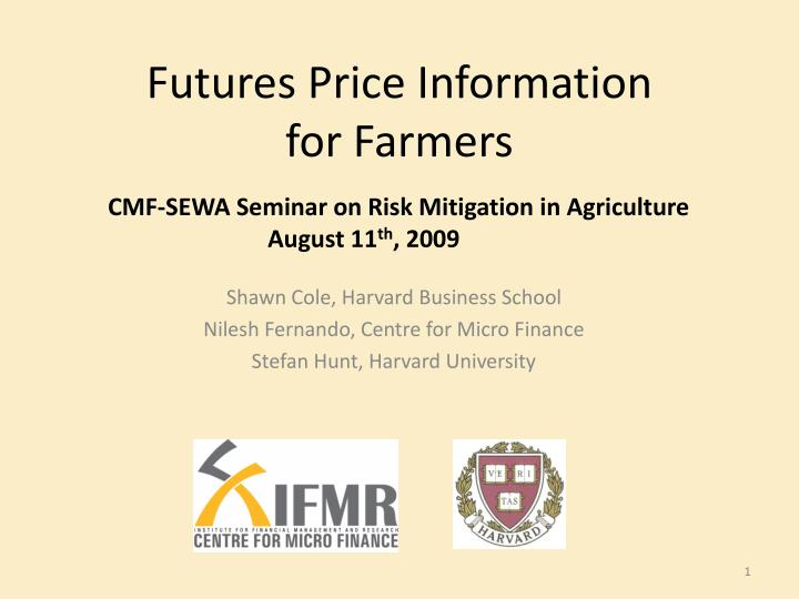 futures price information for farmers n.