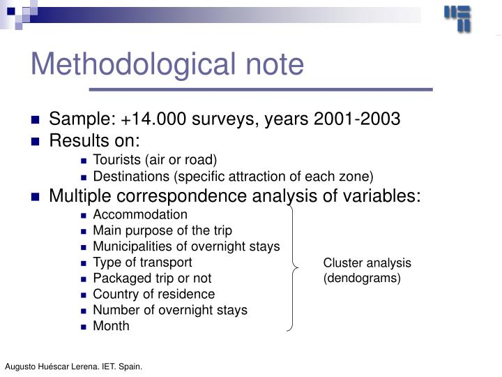 Methodological note