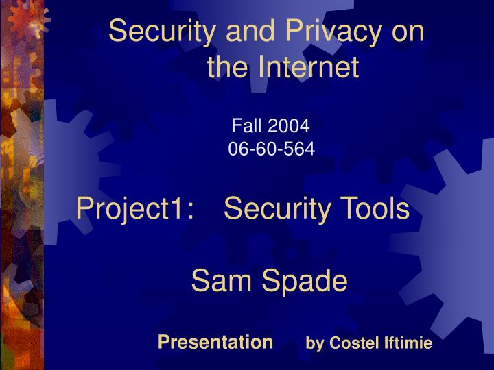 security and privacy on the internet n.