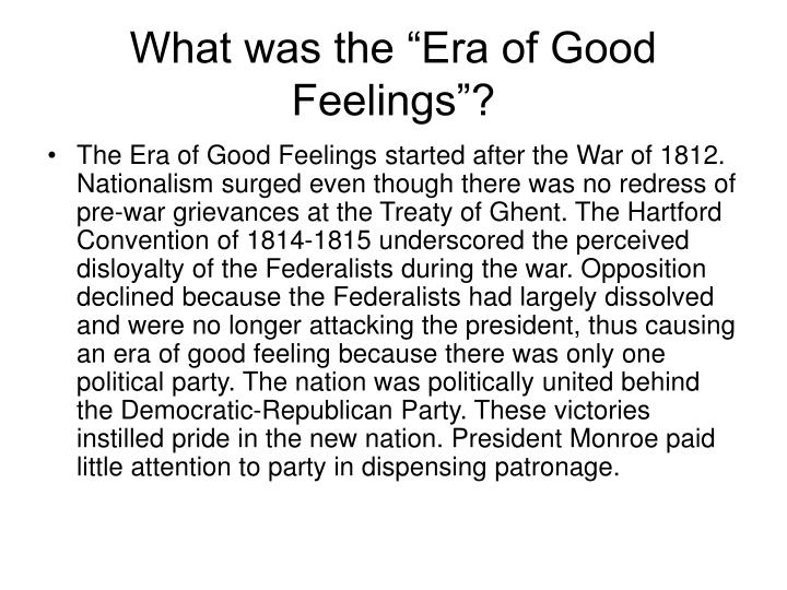 the start of the era of sectionalism during james monroes presidency Manifest destiny was stimulated by nationalism and an idealistic vision of human perfectibility it was america's duty to extend liberty and democratic institutions across the continent underlying this divine american mission was a feeling of cultural—even racial—superiority.