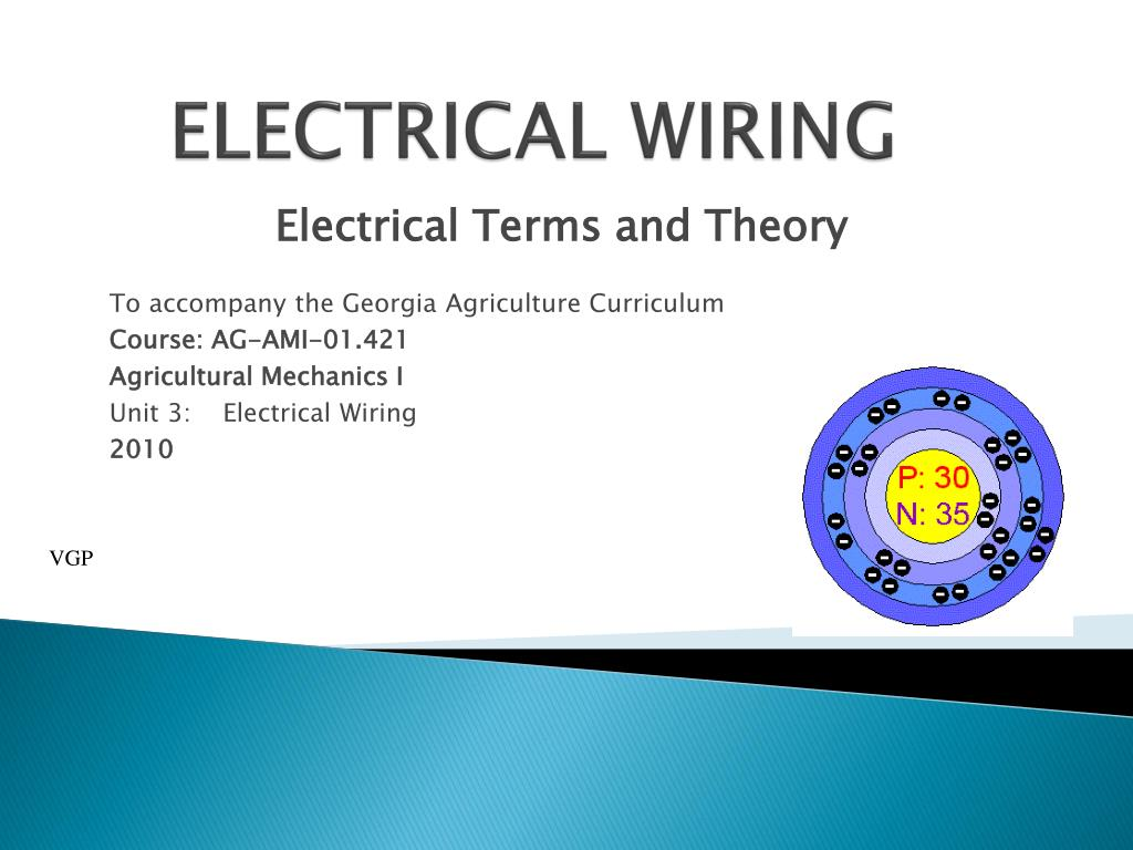 Ppt Electrical Wiring Powerpoint Presentation Id3104242 Course N