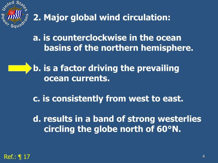 2. Major global wind circulation: