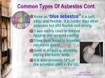 common types of asbestos cont1