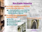 non friable asbestos