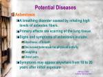 potential diseases