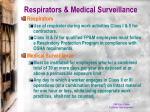 respirators medical surveillance