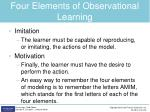 four elements of observational learning1