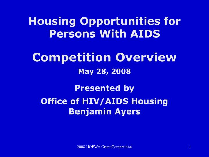 housing opportunities for persons with aids n.