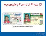 acceptable forms of photo id1