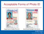 acceptable forms of photo id3