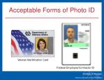 acceptable forms of photo id5