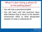 what if i don t bring a photo id to the polling place