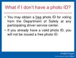 what if i don t have a photo id