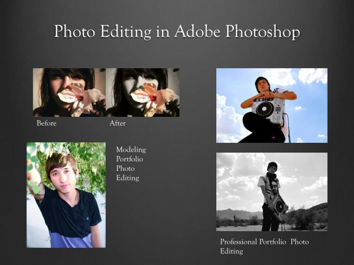 Photo Editing in Adobe Photoshop