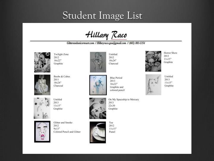 Student Image List