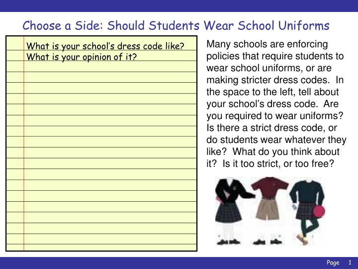 essay about uniforms in school Free essay: many schools in united states require their students to wear uniforms school uniforms in public schools will not only save parent's money but it will also put every student in the same clothing and that will also help prevent distractions in the classroom.