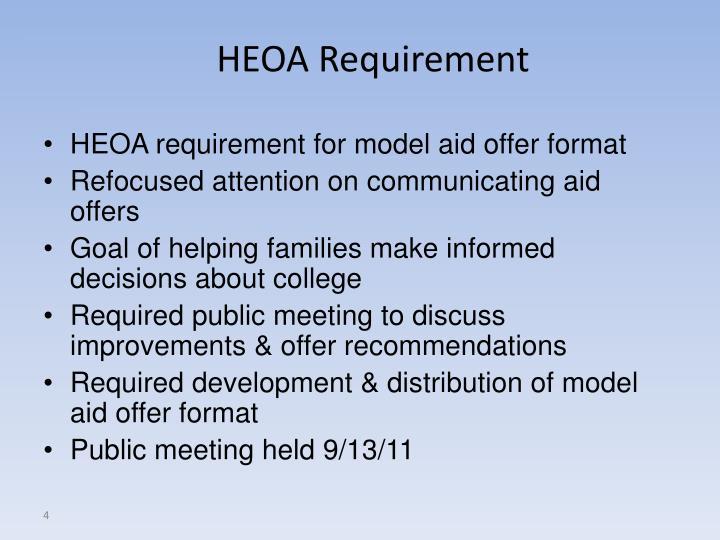 HEOA Requirement