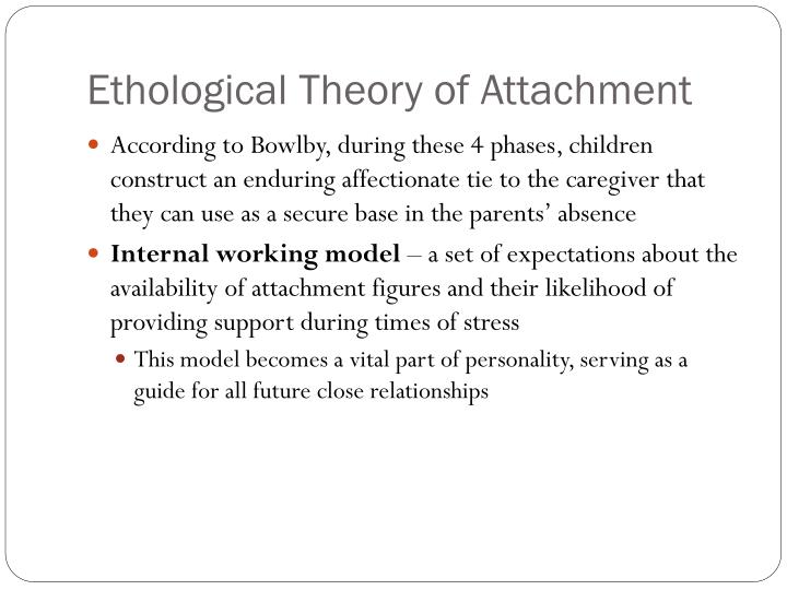 bowlbys ethological theory of attachment