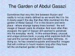 the garden of abdul gasazi1