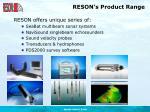 reson s product range