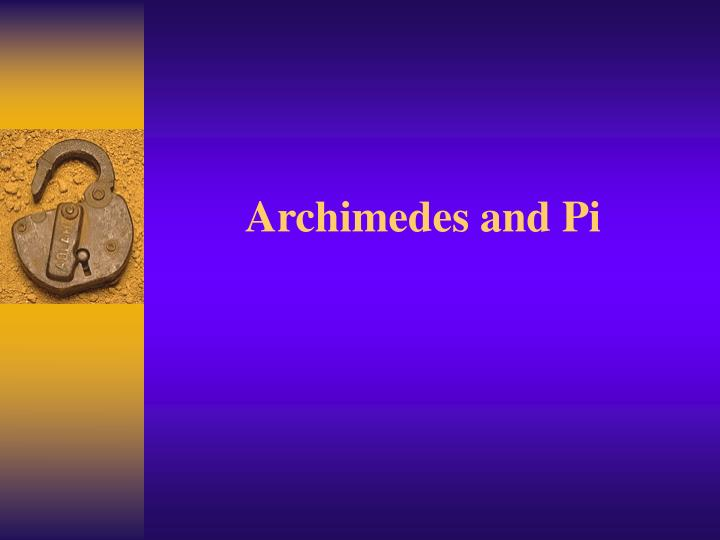 archimedes and pi n.