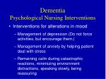 dementia psychological nursing interventions1