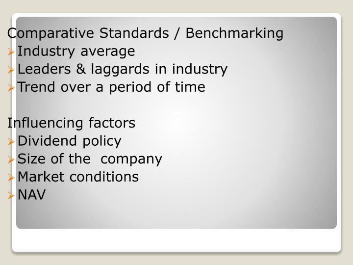 Comparative Standards / Benchmarking