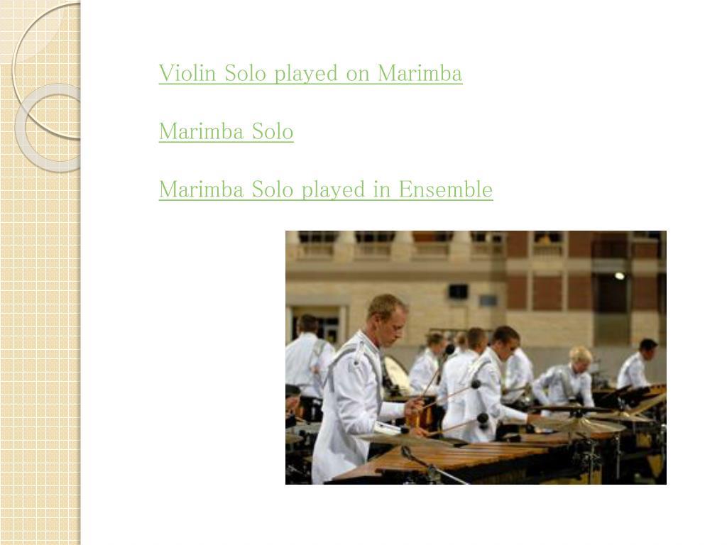 PPT - The Marimba PowerPoint Presentation - ID:3105371