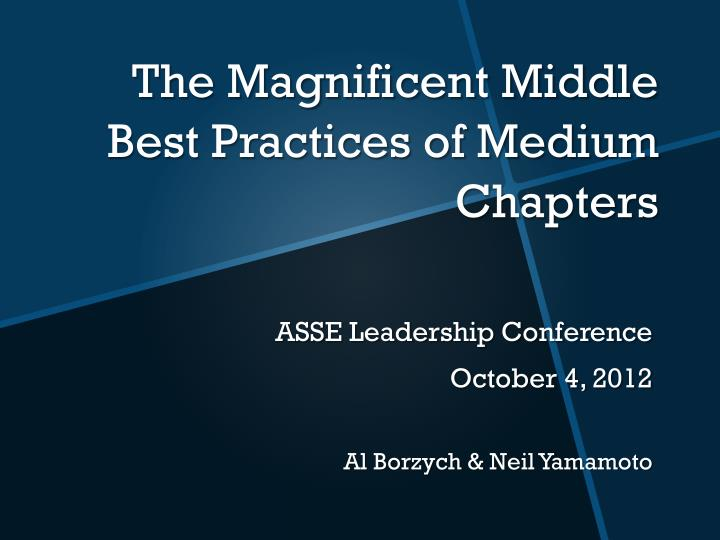 the magnificent middle best practices of medium chapters n.