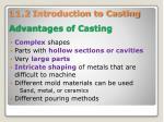 advantages of casting