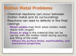 molten metal problems