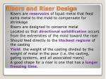 risers and riser design