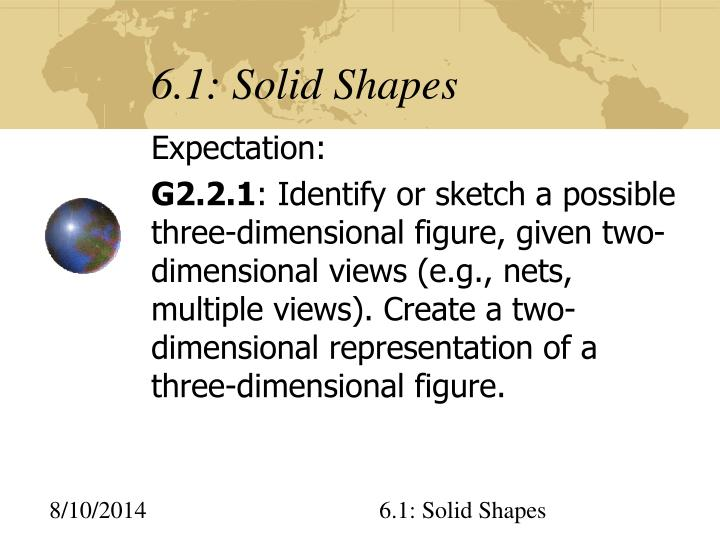 6 1 solid shapes