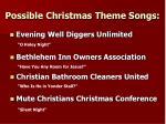 possible christmas theme songs