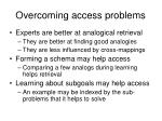 overcoming access problems