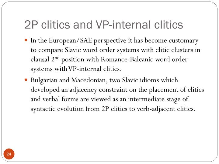 2P clitics and VP-internal clitics