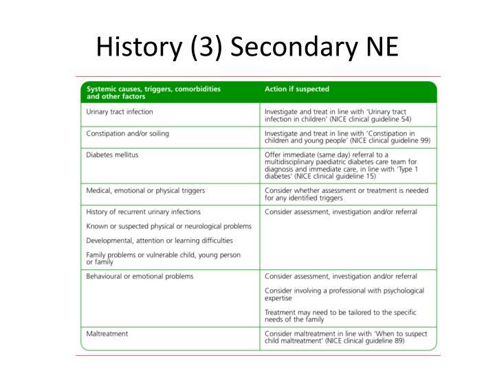 History (3) Secondary NE