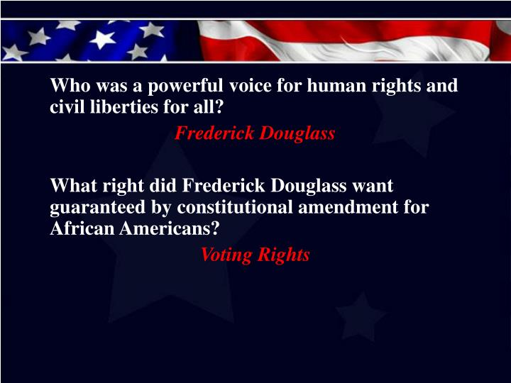 Who was a powerful voice for human rights and civil liberties for all?