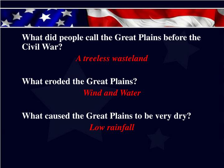 What did people call the Great Plains before the Civil War?